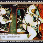 Astronauts and Command Module, Space Exploration Program, Apollo, circa 1973