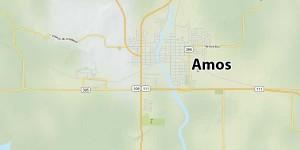 Objet lumineux se déplaçant dans le ciel d'Amos