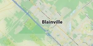 Ovni rouge et blanc, zigzaguant à Blainville