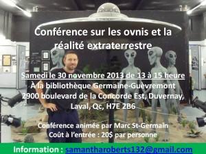 Conférence sur les ovnis et la réalité extraterrestre