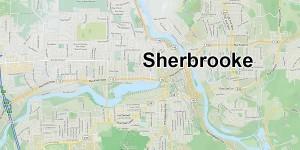 Objet de couleur feu avec 3 branches vers le bas à Sherbrooke