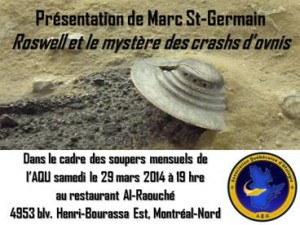 Souper ufologique mensuel de l'AQU-Mars 2014