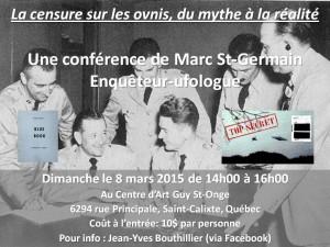 Conférence de Marc St Germain