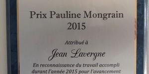 Prix Pauline Mongrain de l'AQU attribué à M. Jean Lavergne