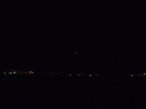 Lumière vive dans le ciel au-dessus du fleuve St-Laurent