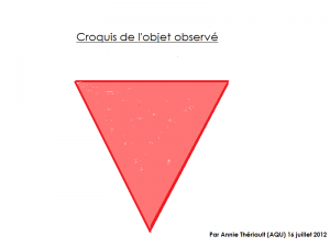 Un trange triangle dans le ciel abitibien